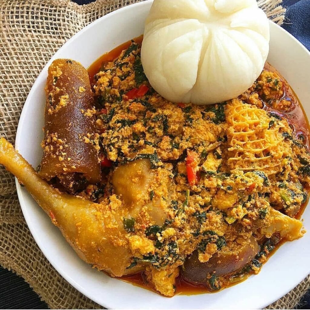 Nigerian soups with vegetable are good in pregnancy