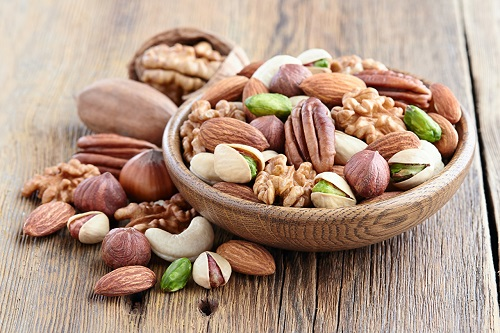 nuts are rich in omega-3 fatty acids that are great for breastfeeding moms
